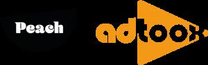 Peach + Adtoox logos